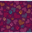 Seamless pattern with hearts and butterfliesCopy vector image
