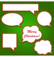 Set of bright red speech bubbles for your vector image