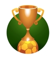 Soccer ball trophy bronze cup vector image vector image