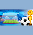 soccer stadium during sports match football arena vector image vector image
