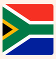 south africa square flag button social media vector image