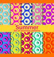 summer seamless patterns with circles and bright vector image