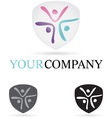 Three Figures Company Icon vector image vector image