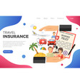 travel insurance concept vector image vector image