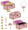 treasure chest for a princess vector image vector image
