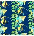 tropical fish pattern seamless art vector image vector image