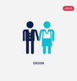 two color groom icon from love wedding concept vector image