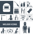 Welder Icons Black Set vector image vector image
