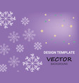 winter background design white snowflake with vector image