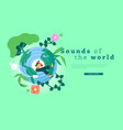 world music web template nature sound girl vector image
