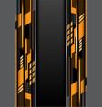 yellow gray design futurisitc techonlogy vector image vector image