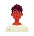 Young african man face neutral facial expression vector image vector image