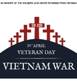 Vietnam war Remembrance day vector image