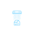 Air conditioning linear logo and icon vector image