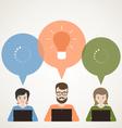Business online vector image