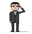 Funny cartoon bodyguard Security vector image