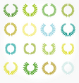 set of crown laurel wreaths vector image