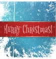 Big red and gold Christmas Banner on Snow Ice vector image