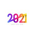 2021 happy new year symbol design vector image vector image
