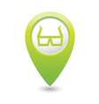 3d cinema glasses icon green pointer vector image vector image