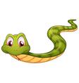 A green snake vector image vector image