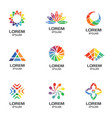 abstract geometric logos for business vector image