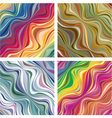 abstract textures with wavy lines 1 vector image vector image