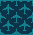 airplane seamless pattern blue on dark vector image vector image