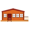 an exterior of wooden house vector image