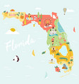 an map florida with destinations vector image vector image