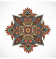 arabic flower ornament floral background abstract vector image