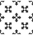arrows in four directions icon seamless pattern vector image vector image