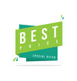best price discount offer price label vector image