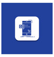 blue round button for bulk dialog instant mail vector image