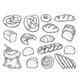bread set vector image