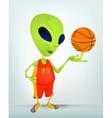 Cartoon Alien Basketball vector image vector image