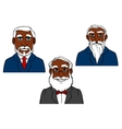 Cartoon old bearded men in elegant suits vector image