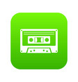 Cassette tape icon digital green