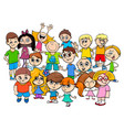 children characters group cartoon vector image vector image