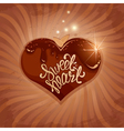 chocolate sweetheart 1 380 vector image vector image