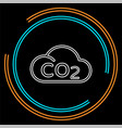 co2 cloud icon natural ecology clean environment vector image