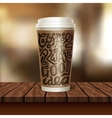 Coffee To Go Cup Composition vector image vector image