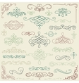 Colorful Vintage Hand Drawn Swirls vector image vector image