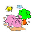 coloring page for children farm animals vector image vector image