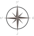 Compass rose on white background vector image