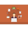 Concept of consulting services project management vector image vector image