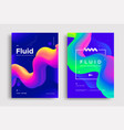 creative poster design with 3d flow shape vector image