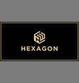 cw hexagon logo vector image vector image
