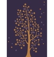Decorative tree with leaves vector image vector image
