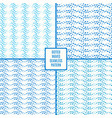 dotted wave seamless pattern set vector image